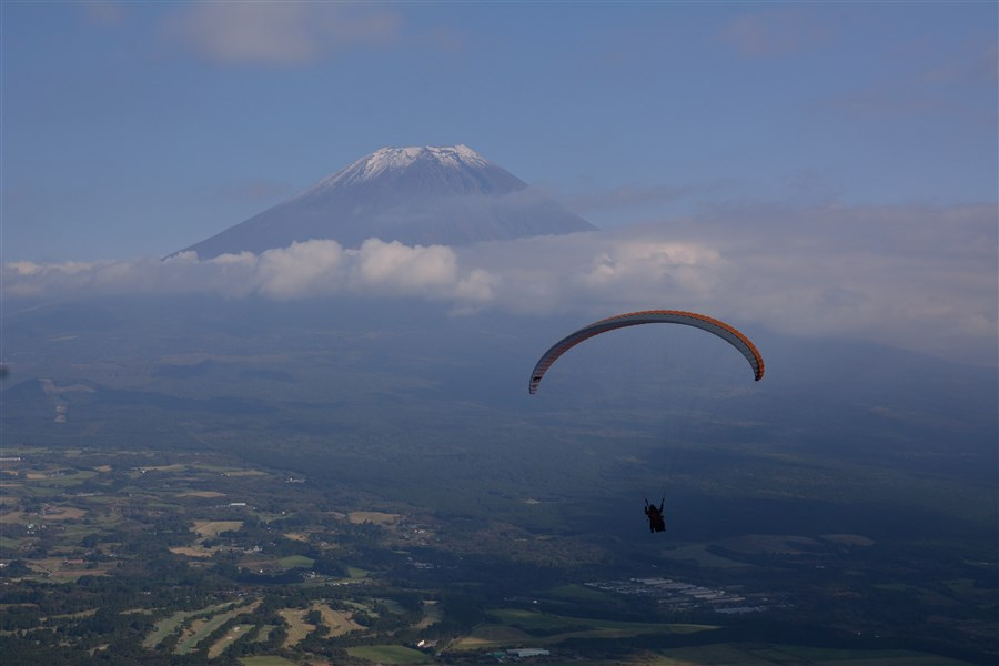 富士山 パラグライダー