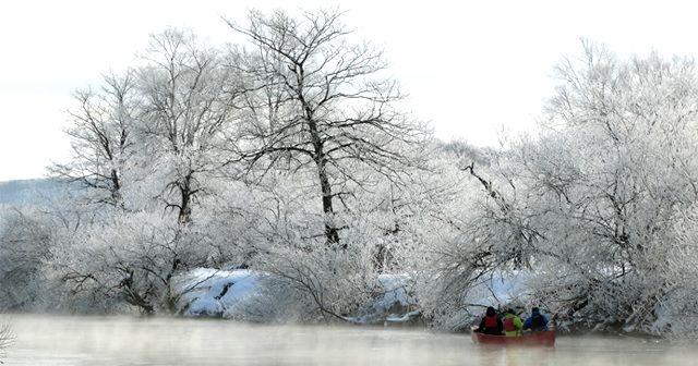 釧路湿原のカヌー体験の様子3