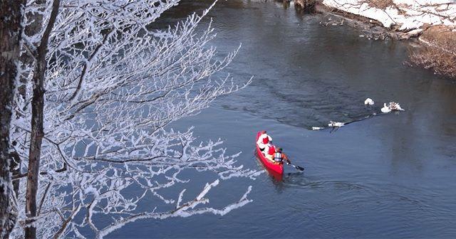 釧路湿原のカヌー体験の様子1