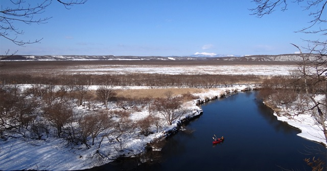 釧路湿原のカヌー体験の様子2