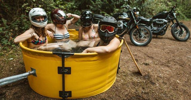 アウトドアフリーク必見!これがあればどこでもお風呂に浸かれる『NOMAD Collapsible Hot Tub and Coil Combo』!!