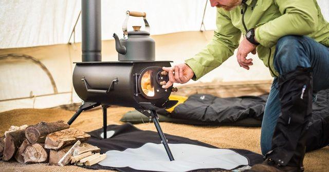 贅沢にキャンプしよう。グランピングに最適な持ち運べる暖炉『Frontier Plus』。