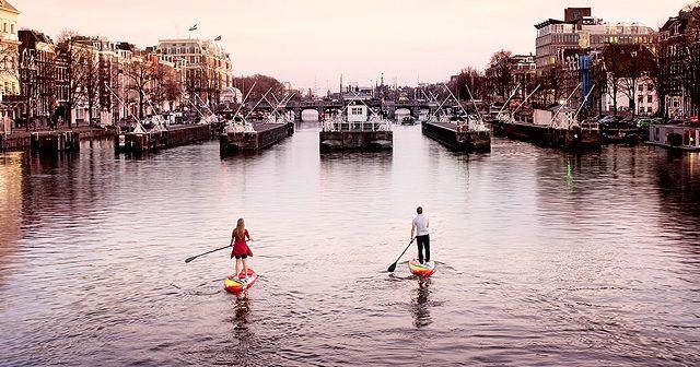 憧れのSUPトリップ。運河の街アムステルダムでSUPしたい!!