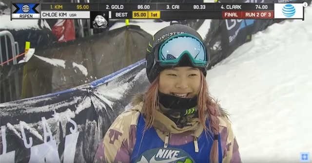 """She was 15 years old and won """"X-GAMES ASPEN"""" 2 consecutive times. """"Chloe Kim (Chloe Kim)"""" in the center of the female snowboard world."""