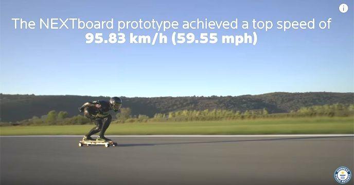 エグい!!ギネス世界記録を更新した電動スケートボードのスピードが95.83 km/h!!