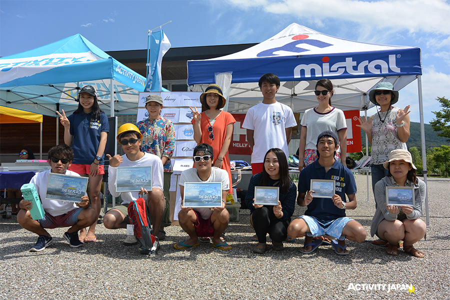 The 2nd Yamanakako SUPer marathon contest