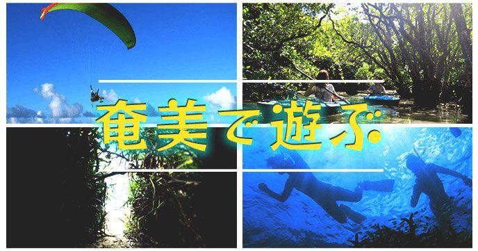 奄美で遊ぶ ~奄美大島のおすすめ感動体験~のバナー