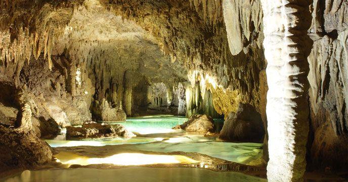 Blue cave Onna village