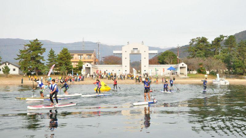 The 3rd Biwako Water Trail SUP Ekiden Relay