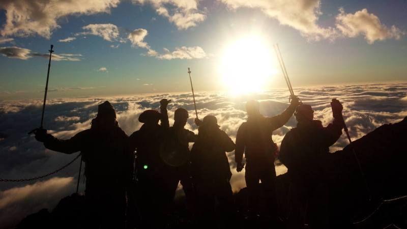 Mt. Fuji climbing mountain
