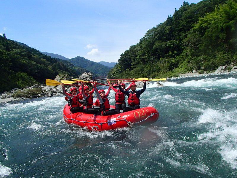 Rafting in the Shikoku area