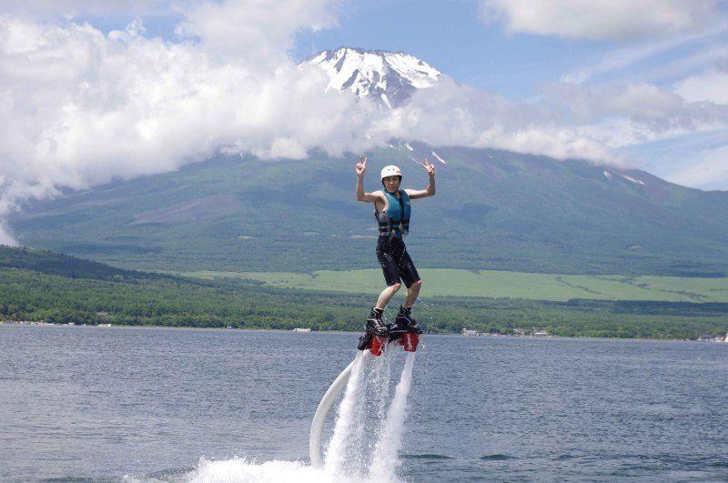 山中湖 フライボード