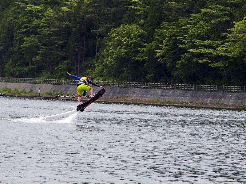 山中湖 ホバーボード