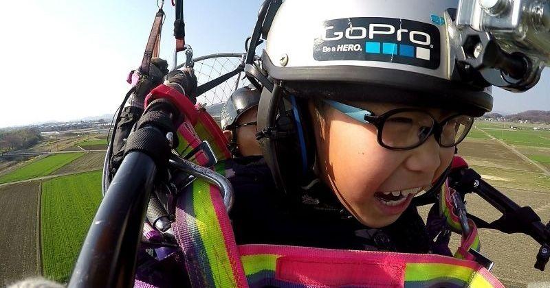 """[栃木縣足利市機動滑翔傘] 5歲〜OK!小班安全有禮貌體驗飛行計劃是有吸引力的""""Sukaijimusano"""""""