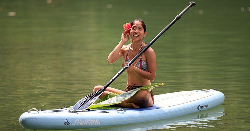 """[沖繩推薦]舉行了紅樹林皮艇和SUP(站起來槳板)體驗之旅""""Hijagawa皮艇"""""""