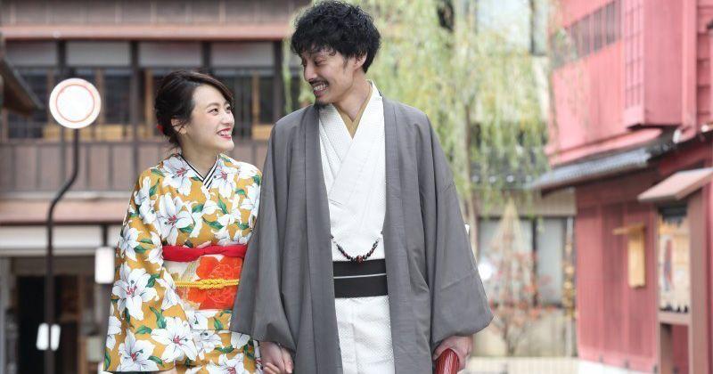 """[คานาซาวะกิโมโนเช่า] Kanazawa สถานีปิด """"คานาซาวะกิโมโนให้เช่า (ที่นี่ Yui)"""" ที่คุณสามารถเพลิดเพลินไปกับชุดกิโมโนแท้และยูกาตะพร้อมเช่าราคาถูก"""