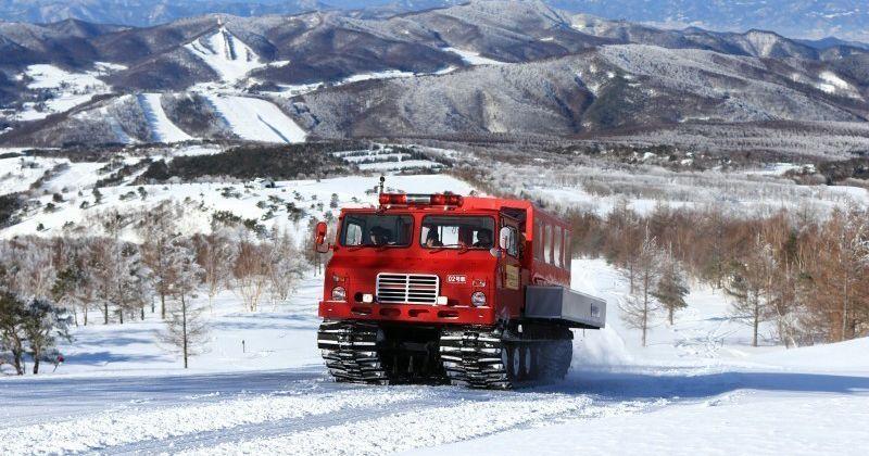 [菅平雪地履帶旅遊預訂]騎車去Nekodake峰會雪地車!電梯有導向計劃沒有壯觀的銀色當然!介紹率和經歷時間和服務的更多!