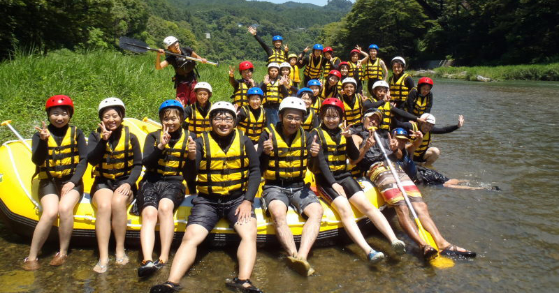 "【Tama River Rafting / Shower Climbing】 7 years old ~ OK! ""Tamagawa Rafting winds"" to host popular tours in Tokyo Okutama!"