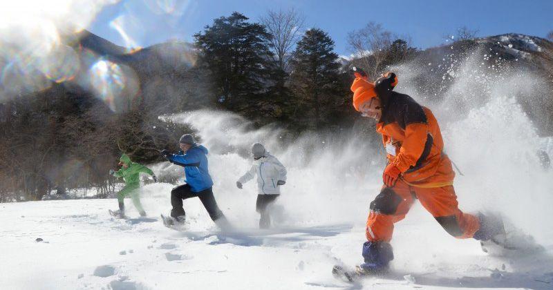 【栃木・奥日光冬のおすすめ】スノーシューハイク・雪の運動会・氷瀑トレッキングetc..関東屈指のパウダースノーを満喫!