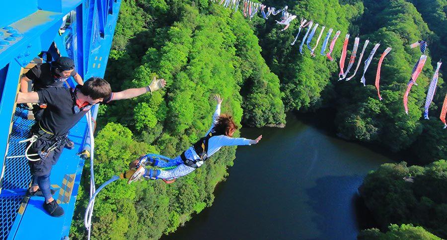 Bungee jumping in Japan