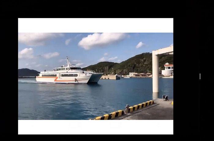 座間味へは沖縄の泊港(とまりこう)から高速船で50分