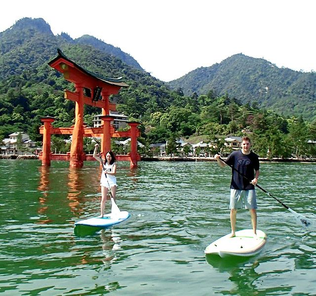 miyajima world Heritage - sup